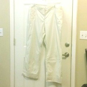CATO 20W Cream Embroidered Pockets Wide Leg Pants